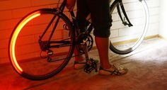 Revolights, lights that attach to your bicycles wheels.