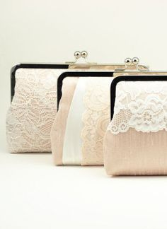 Antoinette Clutch : Champagne on Blush