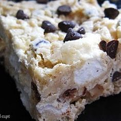 Rice crispy treat with chocolate