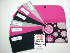 Budget System SEWING PATTERN PDF, Cash Budget Wallet with Envelopes -It can be used with the Ramsey Budgeting System