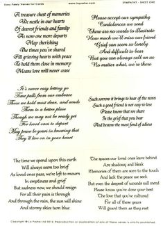 La Pashe Easy Peely Verses for Cards - Sympathy