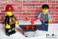 Todays BBQ came in useful to cook the food on. Todays Lego City advent calendar gift.