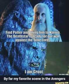 Lord of the Rings, Harry Potter, Chronicles of Narnia, Star Wars, Doctor Who, Guardians of the Galaxy, and Avengers. I would totally watch this if it was real.