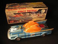 Scarce Tin Lithograph B O Batman Space Patrol XX 01 Car with O B Aoshin Japan | eBay