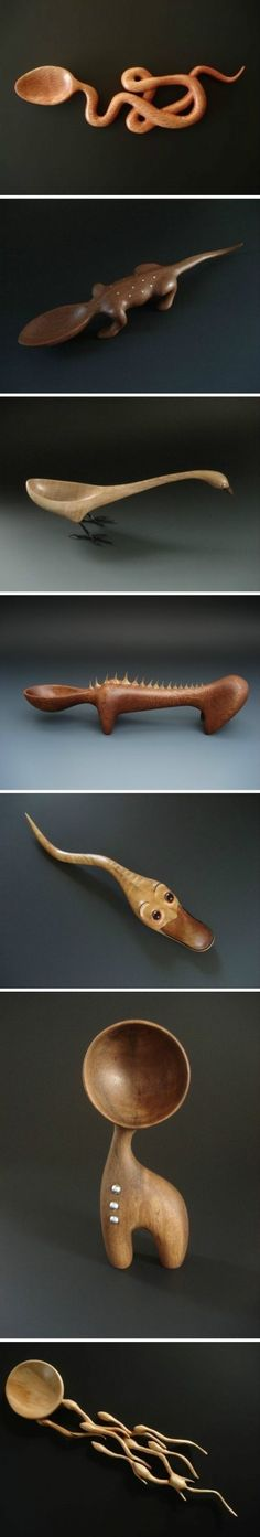 **photo only** NEAT wood spoon ideas but not sure I am that adventurous!