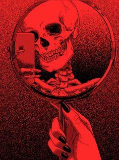 Red skeleton aesthetic
