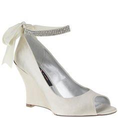 6d3a89c26 Emma-ivory satin. Nina Shoes