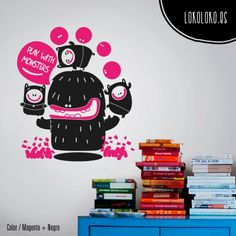 #ViniloDecorativo con monstruos / #WallSticker with monsters