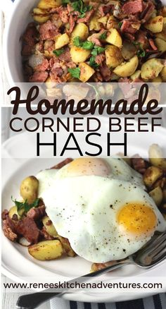 Use your leftover corned beef and potatoes to create this delicious Best Corned Beef Hash for breakfast, lunch or dinner! Best Corned Beef Hash, Homemade Corned Beef, Best Beef Recipes, Egg Recipes, Healthy Recipes, Easter Recipes, Recipies, Holiday Roast Recipe, Beef And Potatoes