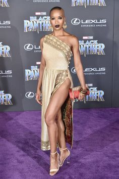 Marija Abney attends the Premiere Of Disney And Marvel's 'Black Panther' Arrivals on January 29 2018 in Hollywood California