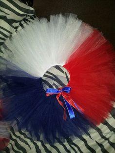 Colorblock Patriotic tutu