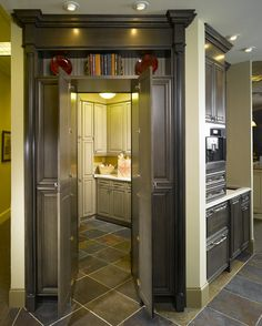 From Material Girls Blog-    Cool way to hide a laundry room -with an old cabinet.