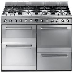 Buy Smeg SYD4110 Symphony Dual Fuel Range Cooker, Stainless Steel Online at johnlewis.com