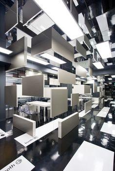 Creating an illusion of floating in a ZERO gravity environment 宙に浮くモノリスが飛び交うSF映画のような空間体験 #design #interiordesign #architecture #architecturedesign #tetsuyamatsumoto #ktxarchilab