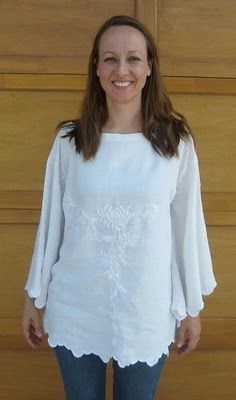 Refashion Tutorial: Make a Tunic Blouse From a Small Round Table Cloth