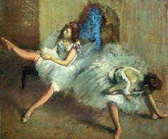 Degas Paintings: Before the Ballet (detail) - Classic 20 X 24 - Hand Painted Canvas Art, Unframed Loose Canvas Edgar Degas, Ballet Painting, Dance Paintings, Paul Cezanne, Manet, Renoir, Claude Monet, Colombian Art, Oil Canvas