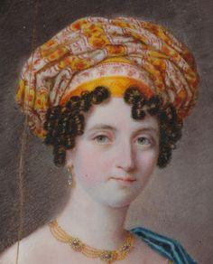 Miniature de Michael Theweneti Femme au turban 1820