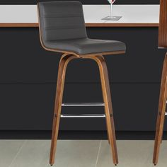 Armen Living Vienna Swivel Bar Stool with Cushion; Counter Bar Stools, Kitchen Stools, Swivel Bar Stools, Bar Chairs, Room Chairs, Island Chairs, Dining Chairs, Office Chairs, Claire's Kitchen