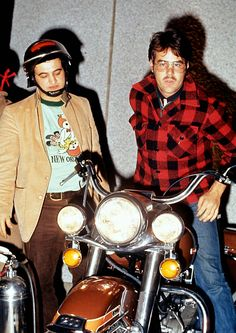 Vintage Photo: John Belushi & Dan Aykroyd #comedy #comedians #motorcycles