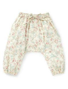 Pure Cotton Floral Pyjama Harem Pants Clothing