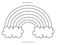 Rainbow Template Preschool | Kinder Learning Garden Blog: Rainbow Cloud Addition