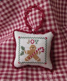 stitch ornament, dreams, crossstitch, crosstitch, christma ornament