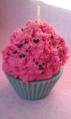 Pink Watermelon Cupcake Candle. $6,95, via Etsy.