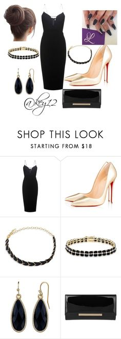 """""""my little black dress😉"""" by key12 ❤ liked on Polyvore featuring Victoria Beckham, Christian Louboutin, Ettika, Dolce Giavonna, 1928 and Jimmy Choo"""