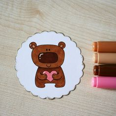 #bear for #thedailymarker30day #blackberryjellys #digi #digistamp #digitalstamp #stamp #coloringchallenge #coloring #markers #copic #scrapbooking #drawing #cute #раскрашивание #маркеры #мишка #штампик #скрапбукинг #рисунок