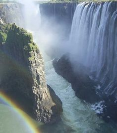 Mosi oa Tunya (The Smoke that Thunders). Commonly known at Victoria Falls. It's a full 6 senses experience.