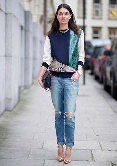 Siempre acierta con sus looks, ya sean casual o lady, esLeila Yavari, directora de la web Stylebop.
