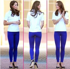 Only Kate could wear skin tight pants and look amazing. She is simply flawless.