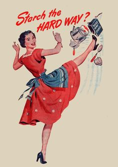I just LOVE housework!! Heels and apron.