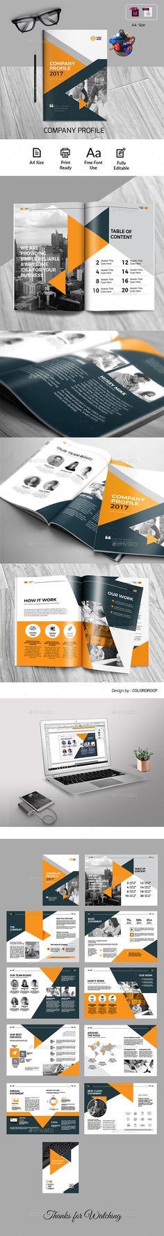 The Company Profile Company profile, Brochure template and Brochures - profile company template