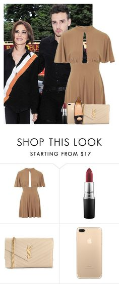 """Sans titre #1513"" by irish26-1 ❤ liked on Polyvore featuring Topshop, MAC Cosmetics, Yves Saint Laurent and Christian Louboutin"