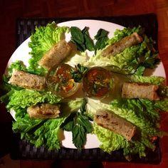 Nems au crabe Asparagus, Vegetables, Food, Pisces, Asian, Veggie Food, Vegetable Recipes, Meals, Veggies
