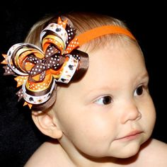 Cute Thanksgiving hairbow.