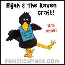 Elijah and the Raven Craft Kit - Bible Craft for Sunday School from www.daniellesplace.com
