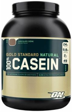 Optimum Nutrition - 100% Casein Gold Standard Natural Protein Chocolate Creme - 4 lbs. - http://healthfitsociety.com/protein/casein-protein-products/optimum-nutrition-100-casein-gold-standard-natural-protein-chocolate-creme-4-lbs/