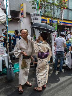 Asakusa/Kappabashi Shitamachi Tanabata Matsuri 5/27 Like all summer festivals, especially in Asakusa, Tanabata is an opportunity to have a stroll in your yukata (light cotton summer kimono) and escape from the heat #Asakusa, #Tanabata, #Kappabashi, #matsuri, #yukata, #kimono Taken on July 6, 2014. © Grigoris A. Miliaresis