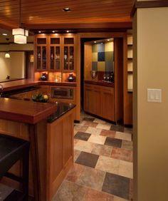 Mueble de cocina oculta cuarto