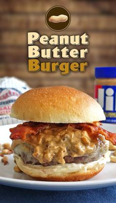 The peanut butter burger is a gooey, but delicious mess. This killer burger is topped with peanut butter, bacon, and mayo.