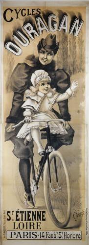 CYCLES/ OURAGAN/ ST. ETIENNE/ LOIRE/ PARIS. 14, Faubg. St. Honoré | Paris Musées Vintage Ads, French Vintage, Velo Retro, Paris 14, St Honoré, Musee Carnavalet, Cycling Art, Old Ads, Vintage Bicycles