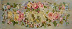 Roses & birds ornement-© Atelier Hélène Flont