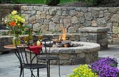In+Ground+Fire+Pit+Ideas   Stone Fire Pit Designs . . . Veritable Works of Art!