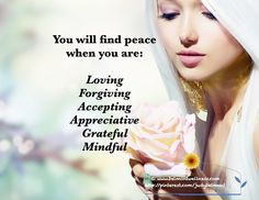 How about you?  Do you have what it takes to be at peace with life?