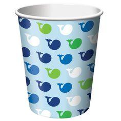9 oz Hot/Cold Paper Cups Ocean Preppy/Case of 96