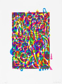 Ryan McGinness, 'Untitled (Fluorescent Women Parts) 3,' 2014, Lower East Side Printshop