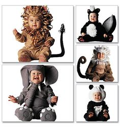 The baby elephant in this pattern is to cute for words!  McCalls 6105 Baby Animal Costume Sewing Pattern by ucanmakethis, $4.95
