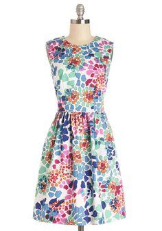 Watercolor Me Happy Dress multicoloured floral